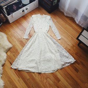 Vintage Bohemian Jessica McClintock Lace Dress!